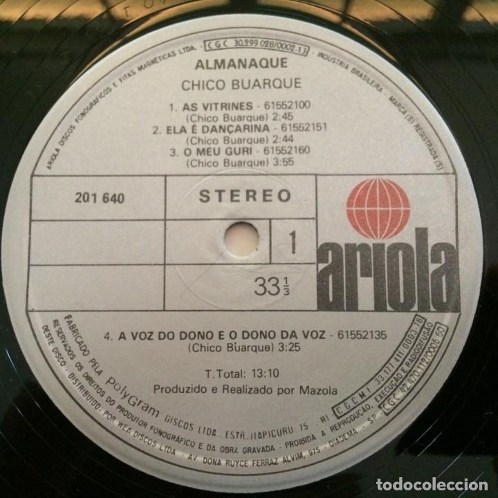 Discos de vinilo: Chico Buarque – Almanaque Brasil,1981 Ariola - Foto 5 - 275795978