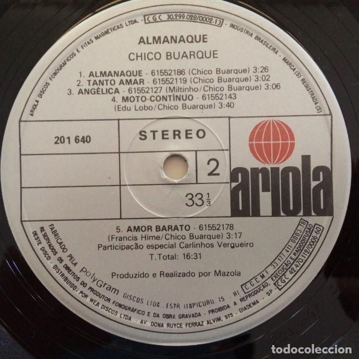 Discos de vinilo: Chico Buarque – Almanaque Brasil,1981 Ariola - Foto 6 - 275795978