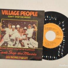 """Discos de vinilo: VINILO DE 7 PULGADAS DE VILLAGE PEOPLE QUE CONTIENE """"CAN'T STOP THE MUSIC"""" Y """"MILK SHAKE"""". RCA.. Lote 275903363"""