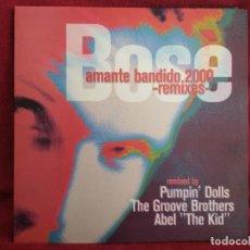 Discos de vinilo: ** MIGUEL BOSÈ – AMANTE BANDIDO 2000 REMIXES - MAXI WARNER ESPAÑA. Lote 275918743