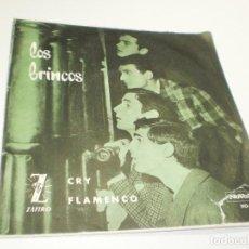 Discos de vinilo: SINGLE LOS BRINCOS. CRY. FLAMENCO. NOVOLA 1964 SPAIN (PROBADO, BIEN, BUEN ESTADO). Lote 275928393