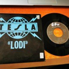 Discos de vinilo: TESLA LODI REMIXES DAN MCCLENDON SINGLE VINILO 1991 ESPAÑA CONTIENE 2 TEMAS. Lote 55567548