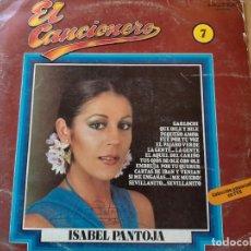 Disques de vinyle: ISABEL PANTOJA-EL CANCIONERO. Lote 275958003