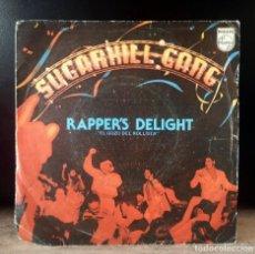 Discos de vinilo: SUGARHILL GANG - RAPPER'S DELIGHT - RARISIMO SINGLE DE VINILO. Lote 275998283