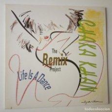 Discos de vinilo: CHAKA KHAN- LIFE IS A DANCE- THE REMIX PROJECT- EUROPE 2 LP 1989 + 2 ENCARTES.. Lote 288473943