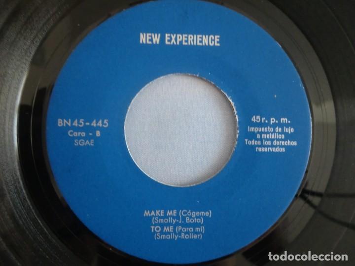 Discos de vinilo: EP NEW EXPERIENCE: Welcome / This train / Make me / To me (1975) Sin portada. Muy buen estado - Foto 4 - 276034068