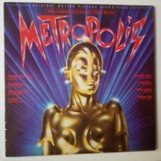 Discos de vinilo: METROPOLIS- BANDA SONORA- SPAIN LP 1984+ ENCARTE- FREDDIE MERCURY- QUEEN.. Lote 276051933