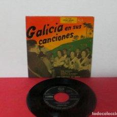 Discos de vinilo: GALICIA EN SUS CANCIONES - CANTIGAS DA TERRA - GRAN PANDEIRADA + MUÑEIRA Nº 4 + 2 -EP- RCA 3-24008. Lote 276053843