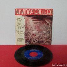 Discos de vinilo: NAVIDAD GALLEGA / ROMAXE DO NADAL - ORFEON TERRA A NOSA - O CARRO CANTAREIRO + 3 -EP- FONÓPOLIS 1966. Lote 276056338
