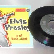 Discos de vinilo: ELVIS PRESLEY Y EL REY DEL ROCK -----VINILO ( VG+) FUNDA MINT ( M+). Lote 276060978
