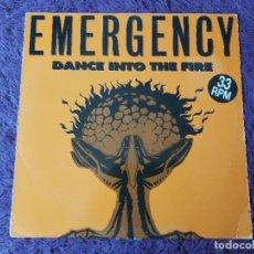 "Discos de vinilo: EMERGENCY – DANCE INTO THE FIRE ,VINYL 12"", 1994 SPAIN BOY-236. Lote 276063553"