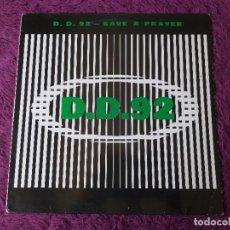 """Discos de vinilo: D.D. 92 – SAVE A PRAYER ,VINYL 12"""", 1993 SPAIN BOY-179. Lote 276064608"""
