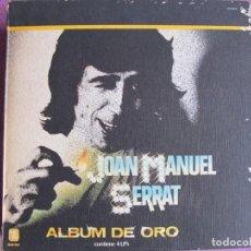 Disques de vinyle: LP - JOAN MANUEL SERRAT - ALBUM DE ORO (CAJA CON 4 LP'S, SPAIN, ZAFIRO 1981). Lote 276075483