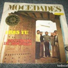 Disques de vinyle: MOCEDADES - ERES TU + RECUERDOS DE MOCEDAD - FESTIVAL DE EUROVISION DE 1973 - NOVOLA. Lote 276080193