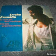 Discos de vinilo: ARETHA FRANKLIN - LA CASA QUE JACK CONSTRUYO + REZO UNA PEQUEÑA ORACION - SINGLE DE HISPAVOX - 1968. Lote 276082388