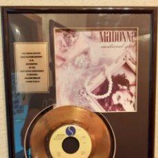 Discos de vinilo: MADONNA DISCO DE ORO 24 KILATES. Lote 276101193