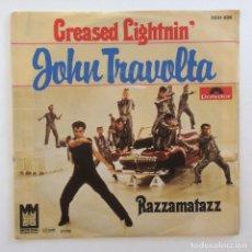 Discos de vinilo: JOHN TRAVOLTA – GREASED LIGHTNIN' / RAZZAMATAZZ GERMANY,1978 POLYDOR. Lote 276142718