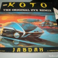 Discos de vinilo: KOTO : JABDAH - ITALO DISCO ..MAXISINGLE DE 1987 - KEY RECORDS - BUEN ESTADO. Lote 276147488