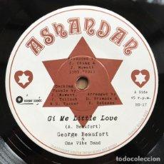 "Discos de vinilo: GEORGE BEAUFORT - GI ME LITTLE LOVE - 7"" [ASHANDAN / HORNIN' SOUNDS, 2019] ROOTS REGGAE DUB. Lote 276156213"
