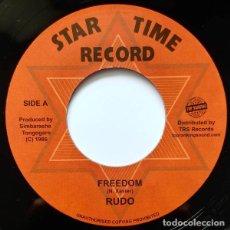 "Discos de vinilo: RUDO - FREEDOM - 7"" [STAR TIME RECORD / TOP RANKING SOUND, 2018] REGGAE DUB. Lote 276156363"
