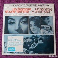 """Discos de vinilo: FRANCIS LAI – UN HOMBRE Y UNA MUJER VINYL 7"""" 1966 EP SPAIN HU 067-137. Lote 276173948"""