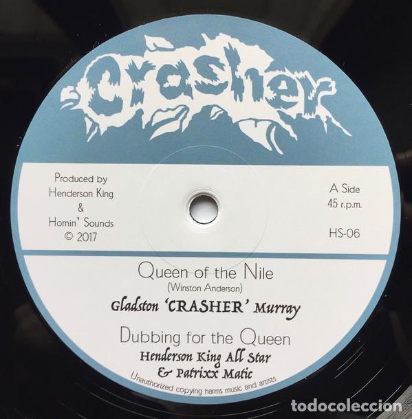 "Discos de vinilo: Crasher - Queen Of The Nile - 12"" [Crasher / Hornin Sounds, 2017] Roots Reggae Dub - Foto 3 - 276192943"
