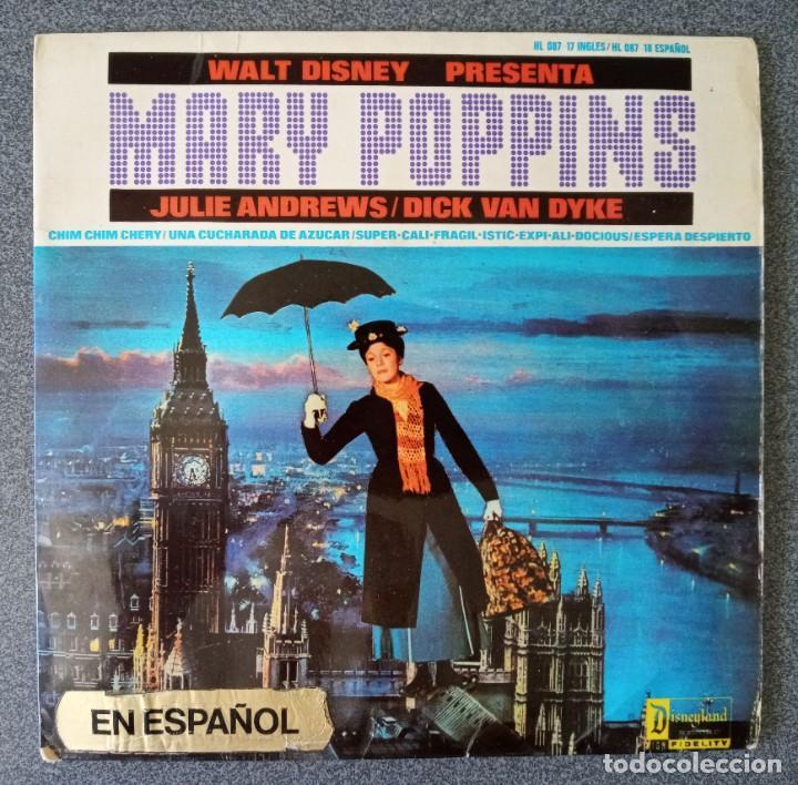 VINILO EP MARY POPPINS (Música - Discos de Vinilo - EPs - Bandas Sonoras y Actores)