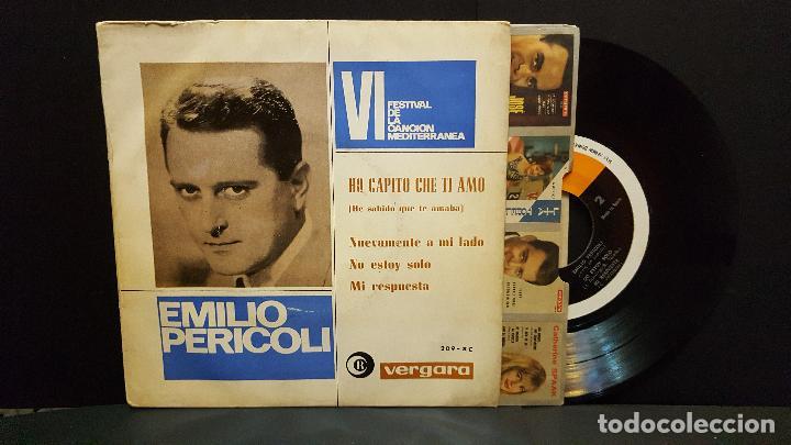 EMILIO PERICOLI. VI FESTIVAL CANCION MEDITERRANEA. HO CAPITO CHE TI AMO. EP. VERGARA 1964 PEP.ETO (Música - Discos de Vinilo - EPs - Otros Festivales de la Canción)