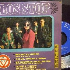 Discos de vinilo: LOS STOP EP MOLINO AL VIENTO /SALUD, DINERO Y AMOR + 2 TEMAS (1967) PEPETO. Lote 276199708