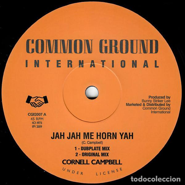 "CORNELL CAMPBELL - JAH JAH ME HORN YAH - 12"" [COMMON GROUND INTERNATIONAL, 2019] ROOTS REGGAE DUB (Música - Discos de Vinilo - Maxi Singles - Reggae - Ska)"