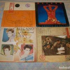 Disques de vinyle: MECANO - LOTE DE SINGLES ,,UNO FIRMADO ,,JAPON, DALAI LAMA, LA FIESTA NACIONAL Y EL AMANTE DE FUEGO. Lote 276205233