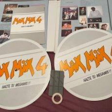 Discos de vinilo: MAX MIX 4 ¡COMPLETO! BOX SET 1986 2 LP + LIBRO DE INSTRUCCIONES CINTA ADHESIVA MONTADORA PATINADORES. Lote 276222063