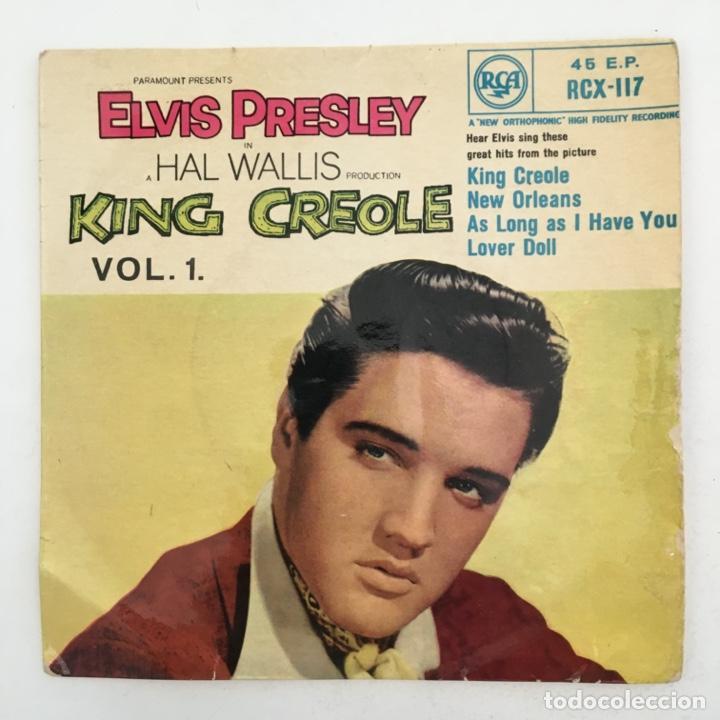 ELVIS PRESLEY WITH THE JORDANAIRES – KING CREOLE VOL.1, UK 1958 RCA (Música - Discos de Vinilo - EPs - Rock & Roll)