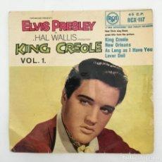 Discos de vinilo: ELVIS PRESLEY WITH THE JORDANAIRES – KING CREOLE VOL.1, UK 1958 RCA. Lote 276224873