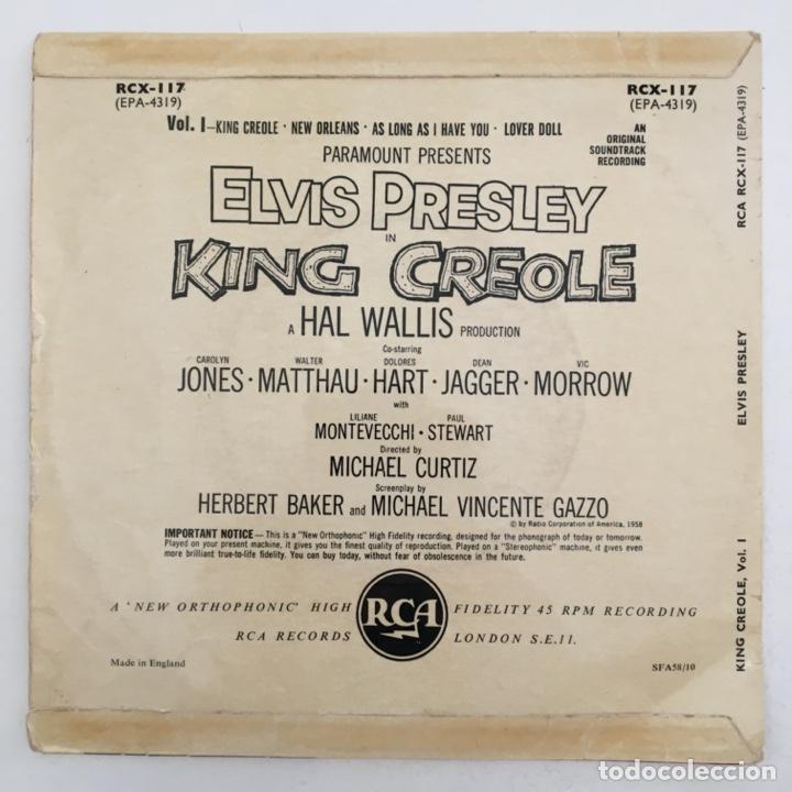 Discos de vinilo: Elvis Presley With The Jordanaires – King Creole Vol.1, UK 1958 RCA - Foto 2 - 276224873