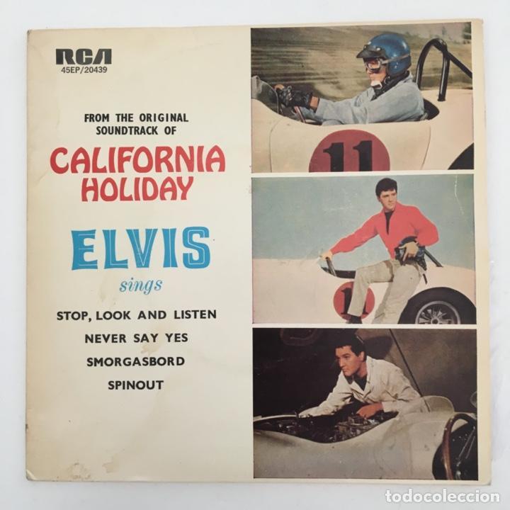 ELVIS PRESLEY WITH THE JORDANAIRES – CALIFORNIA HOLIDAY, AUSTRALIA RCA VICTOR (Música - Discos de Vinilo - EPs - Rock & Roll)