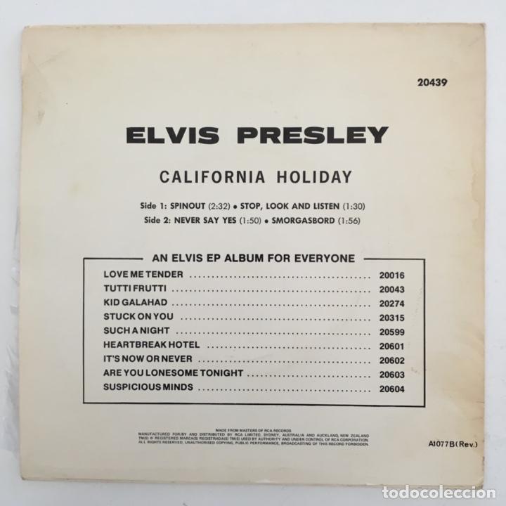 Discos de vinilo: Elvis Presley With The Jordanaires – California Holiday, Australia RCA Victor - Foto 2 - 276224923