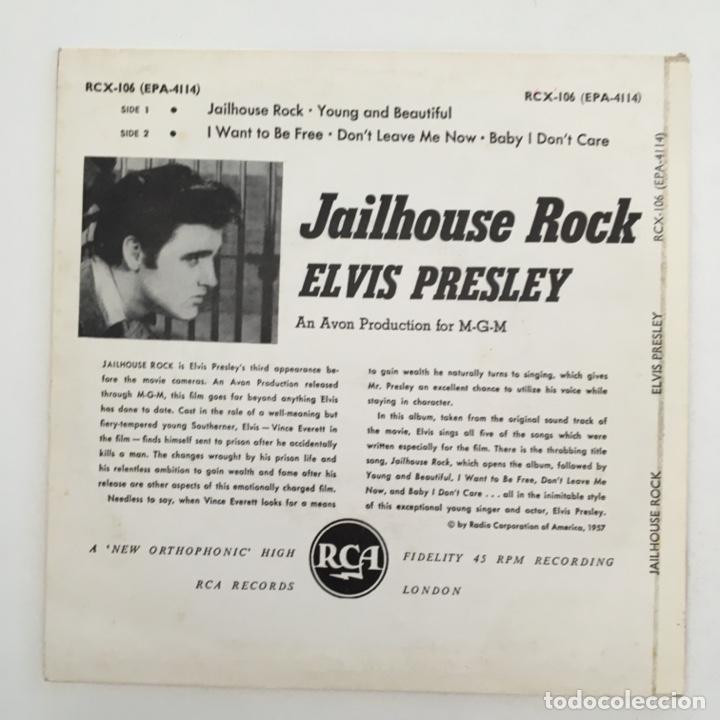 Discos de vinilo: Elvis Presley – Jailhouse Rock, UK 1969 RCA Victor - Foto 2 - 276225008