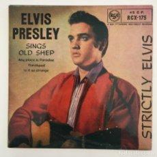 Discos de vinilo: ELVIS PRESLEY – STRICTLY ELVIS, UK 1962 RCA. Lote 276225088