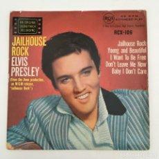 Discos de vinilo: ELVIS PRESLEY – JAILHOUSE ROCK, UK 1958 RCA. Lote 276225203