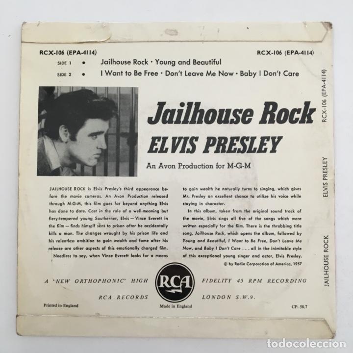 Discos de vinilo: Elvis Presley – Jailhouse Rock, UK 1958 RCA - Foto 2 - 276225203