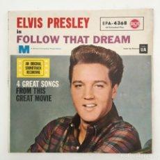 Discos de vinilo: ELVIS PRESLEY – ELVIS PRESLEY IN FOLLOW THAT DREAM, GERMANY 1962 RCA. Lote 276225248