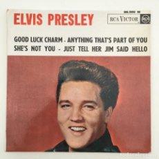Discos de vinilo: ELVIS PRESLEY – GOOD LUCK CHARM, FRANCE 1962 RCA VICTOR. Lote 276225728