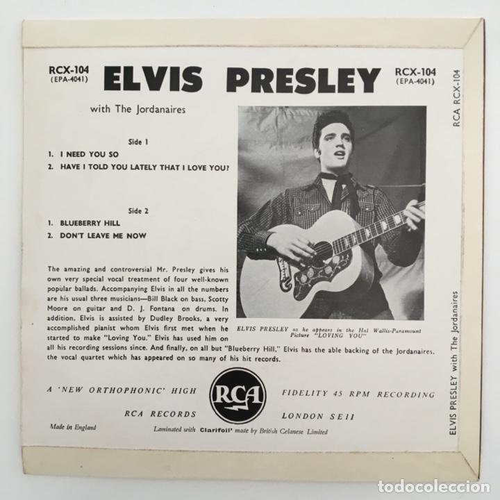 Discos de vinilo: Elvis Presley – I Need You So, UK 1964 RCA Victor - Foto 2 - 276225783