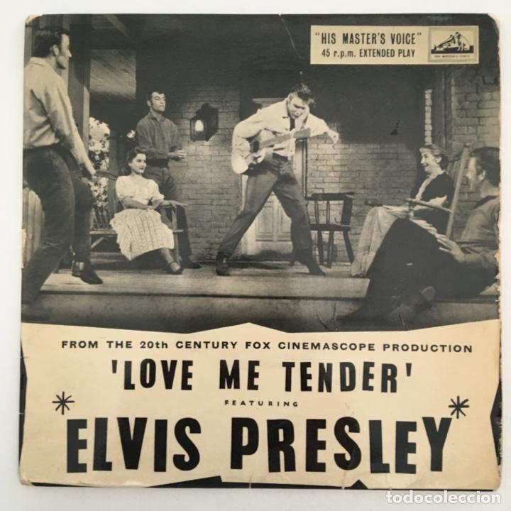 ELVIS PRESLEY – LOVE ME TENDER, UK 1957 HMV (Música - Discos de Vinilo - EPs - Rock & Roll)