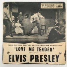 Discos de vinilo: ELVIS PRESLEY – LOVE ME TENDER, UK 1957 HMV. Lote 276225878