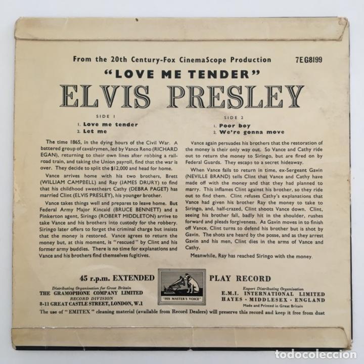Discos de vinilo: Elvis Presley – Love Me Tender, UK 1957 HMV - Foto 2 - 276225878