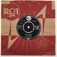 Discos de vinilo: ELVIS PRESLEY WITH THE JORDANAIRES – ARE YOU LONESOME TONIGHT?, UK 1960 RCA. Lote 276226933