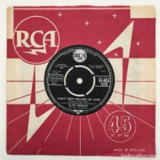 Discos de vinilo: ELVIS PRESLEY WITH THE JORDANAIRES – CAN'T HELP FALLING IN LOVE, UK 1961 RCA. Lote 276226993