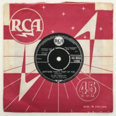 Discos de vinilo: ELVIS PRESLEY WITH THE JORDANAIRES – GOOD LUCK CHARM, UK 1962 RCA. Lote 276227023
